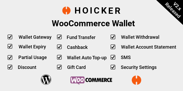 Hoicker WooCommerce Wallet
