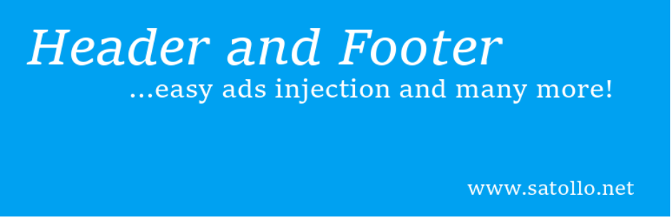 Head, Footer & Post Injections