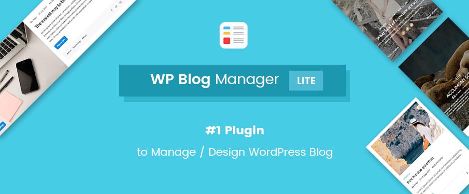 WP Blog Manager Lite