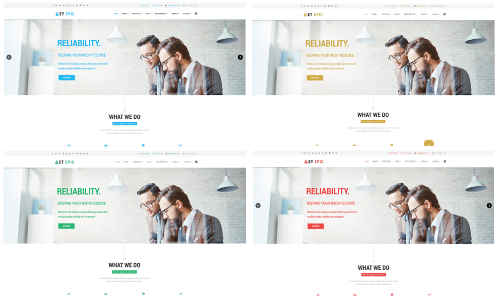 Et epic free responsive corporation business joomla templates wajeb Gallery