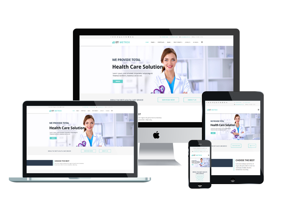 jooma templates - et metrix free responsive healthcare medical joomla