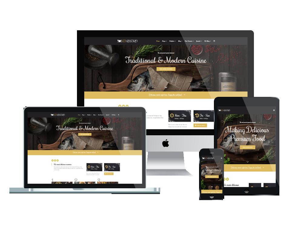 et rustro free responsive bars cafe restaurants joomla templates - Free Responsive Joomla Templates