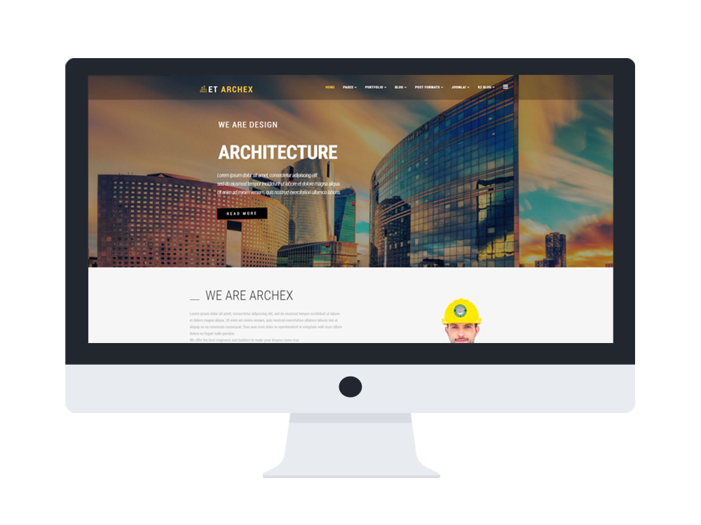 et archex desktop - Free Responsive Joomla Templates