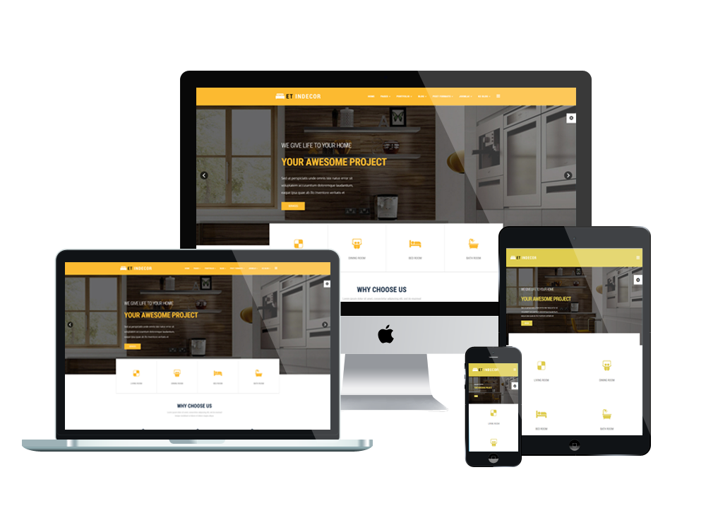 Et indecor free responsive interior design joomla templates for Interior design responsive website templates edge free download