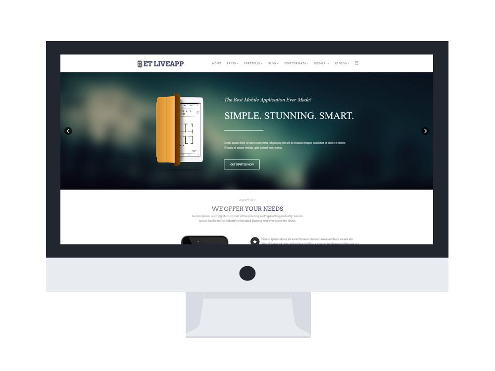 Et liveapp free responsive app showcase joomla templates elegant template design pronofoot35fo Gallery