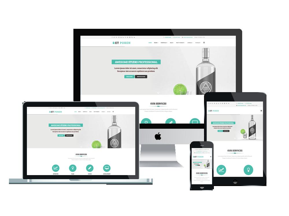 free responsive joomla templates - et poren free responsive portfolio joomla templates