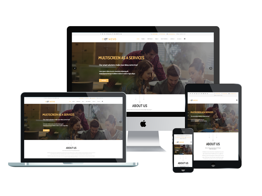 Et wevo free responsive web design joomla templates for What is a responsive template