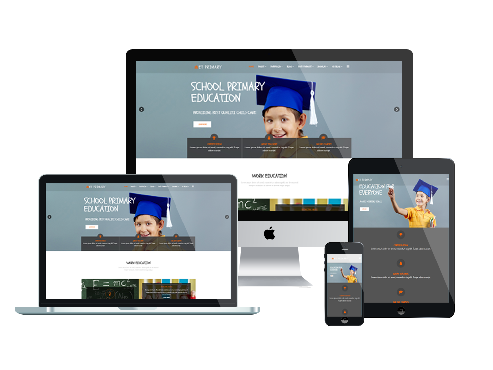 Et primary free responsive primary school joomla templates for What is a responsive template