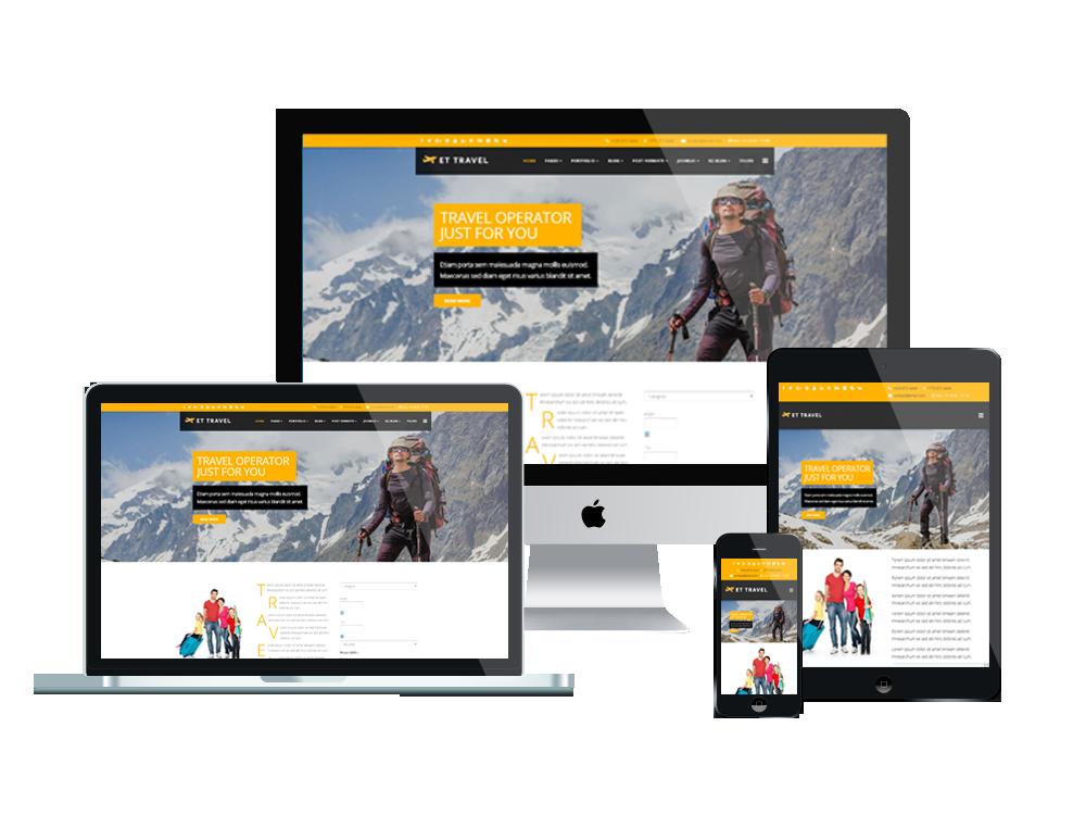 et travel free responsive joomla template - Free Responsive Joomla Templates