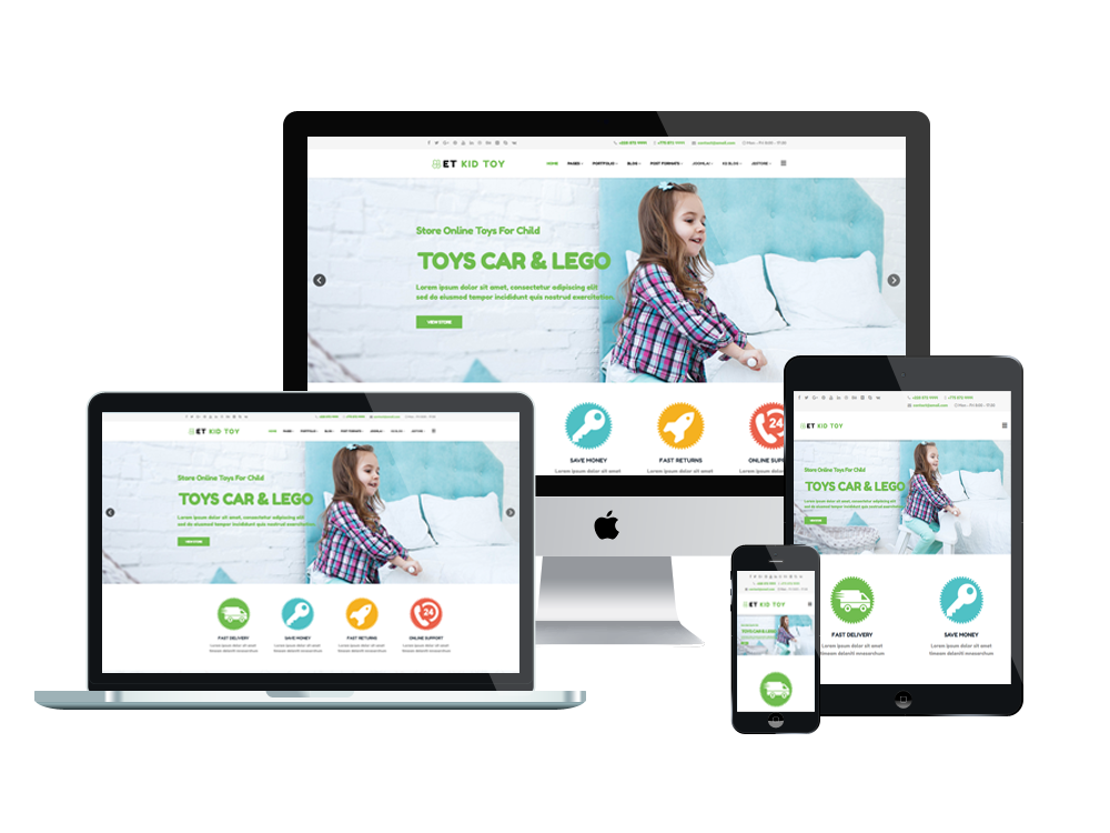 Et kidtoy free responsive toy store joomla template for What is a responsive template