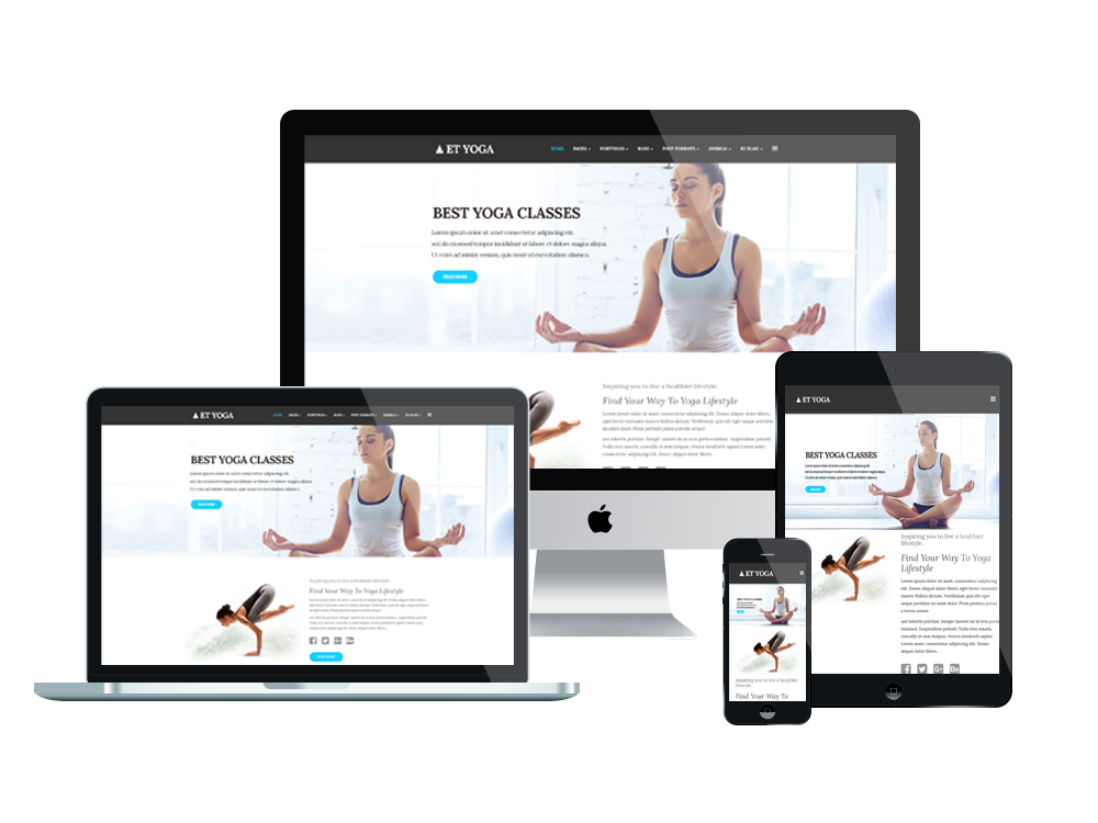 what is a responsive template - et yoga free responsive yoga joomla template