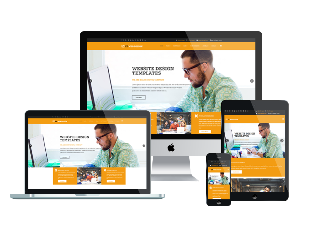 Et web design free responsive web design joomla template for What is a responsive template