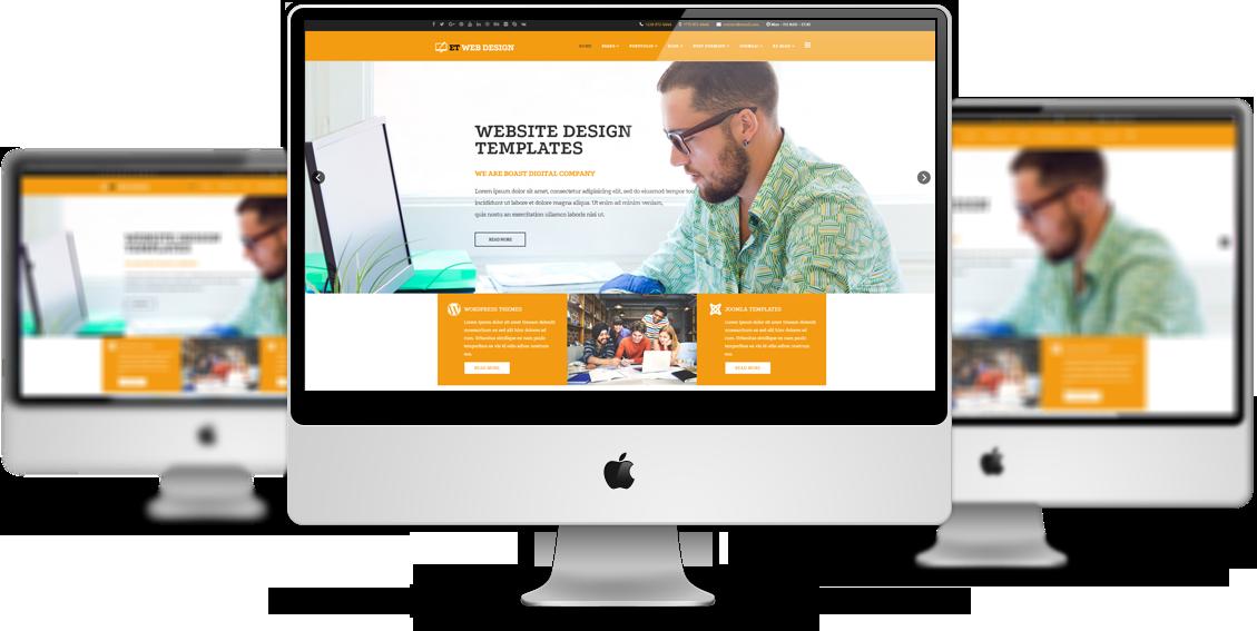 Et Web Design Mockup Free Responsive Joomla Template