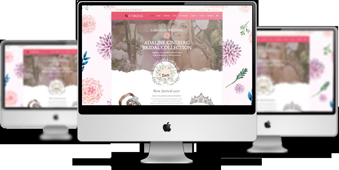 Et Bridal Free Responsive Wedding Wordpress Theme