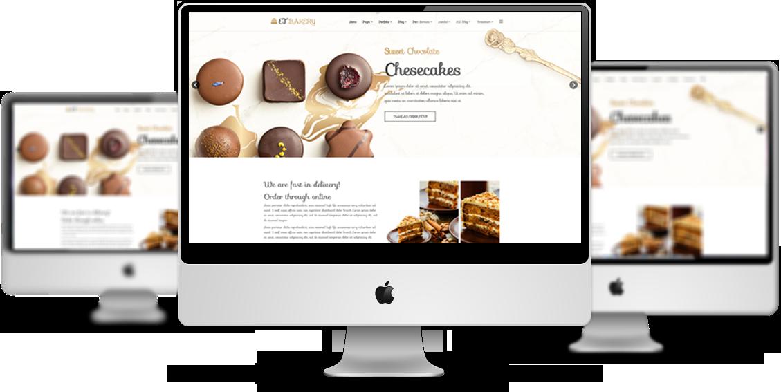 et bakery free responsite joomla template mockup - Free Responsive Website Templates