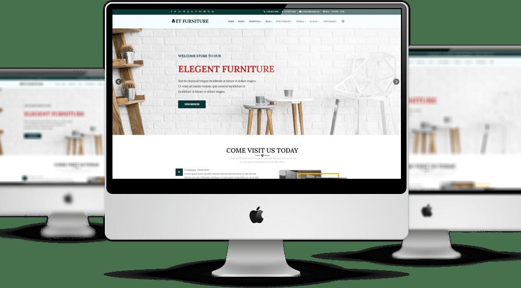 Et Furniture Free Responsive Joomla Template Mockup