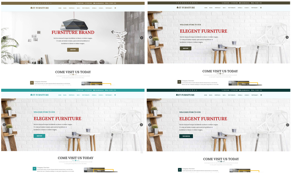 Et furniture free responsive furniture website templates for How to change template on google sites