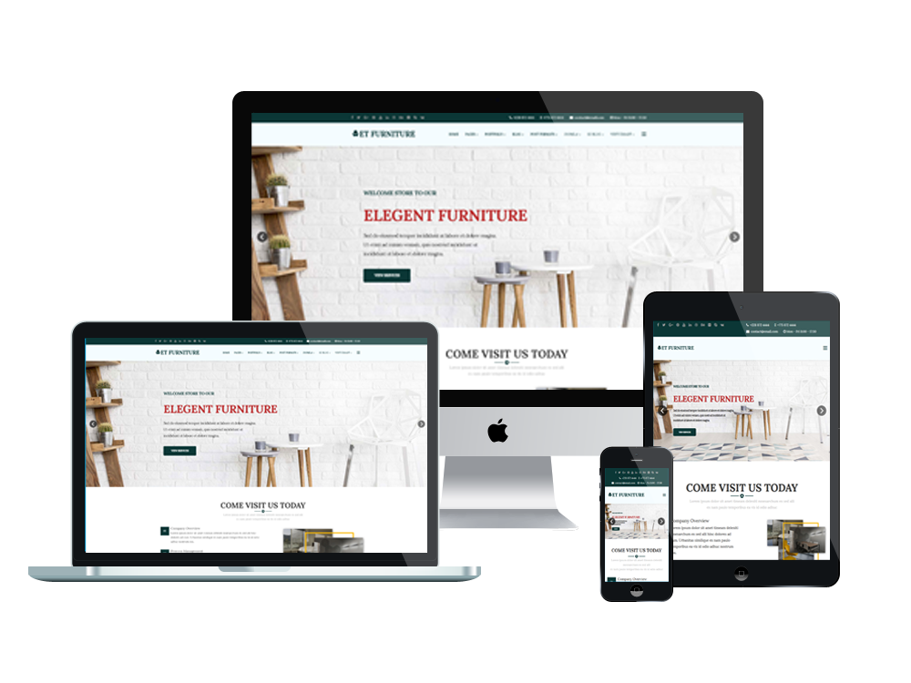 Et furniture free responsive furniture website templates for Interior design layout templates free