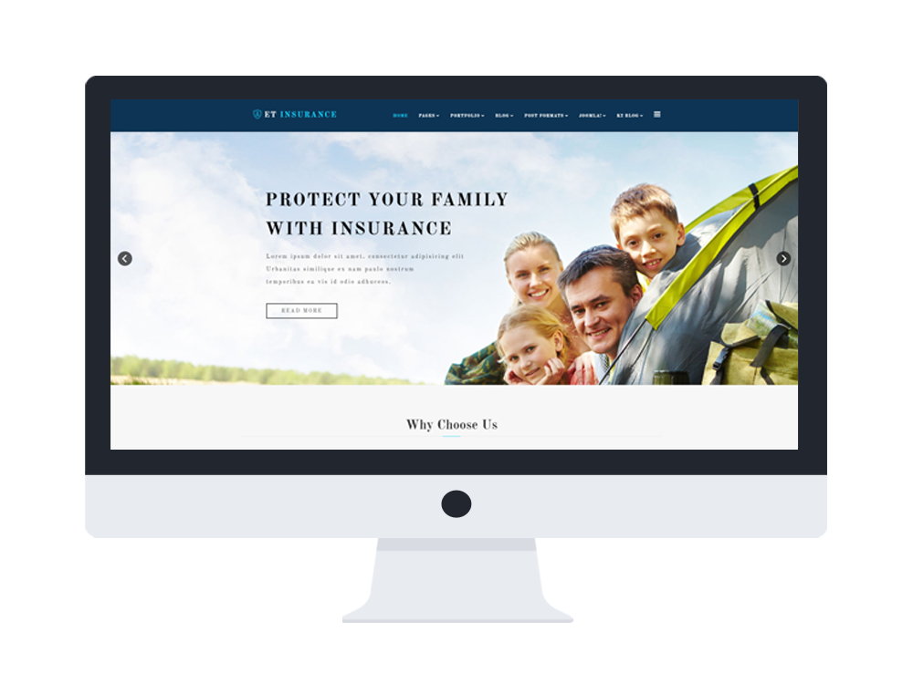 free joomla insurance templates  ET Insurance – Free Responsive Insurance Joomla Template