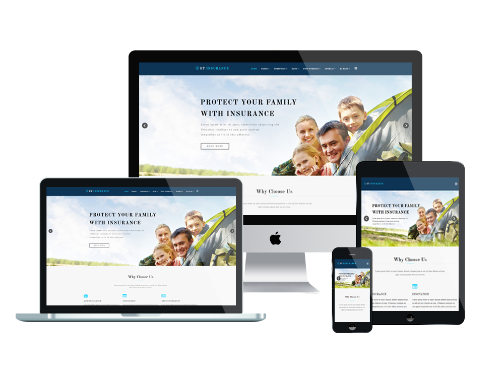Et insurance free responsive insurance joomla template for What is a responsive template