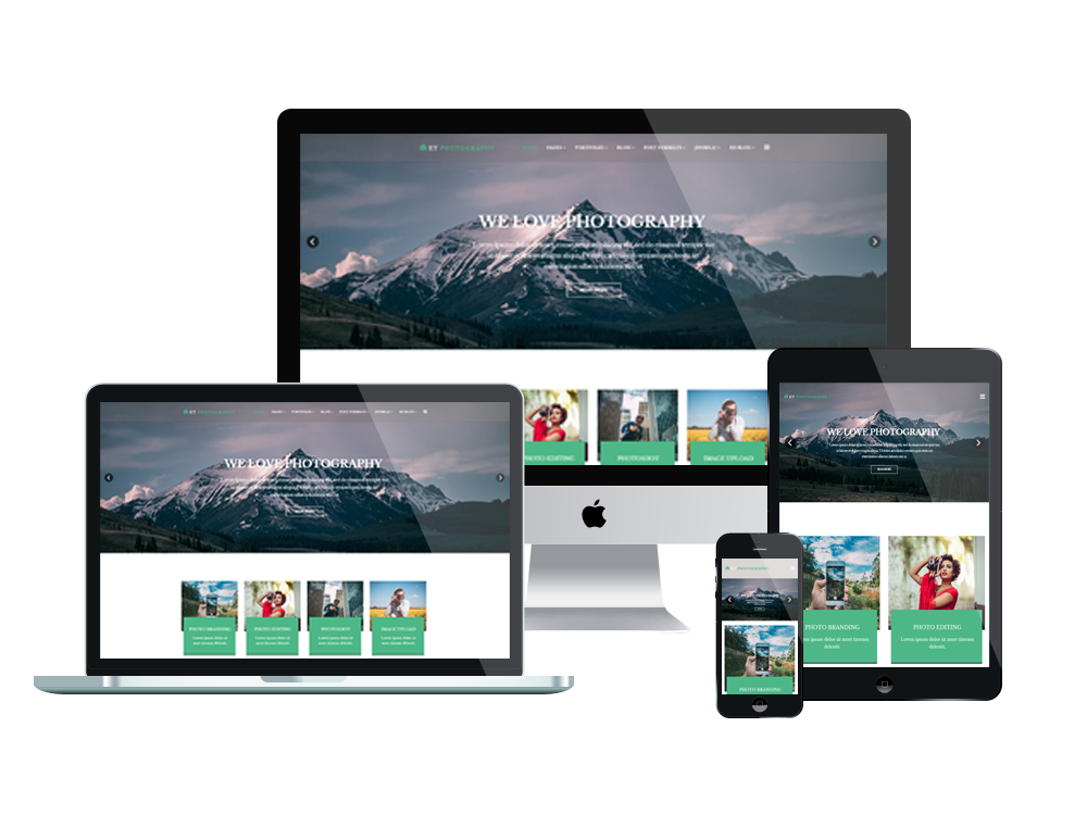 Et photography free responsive joomla photography template for Jooma templates
