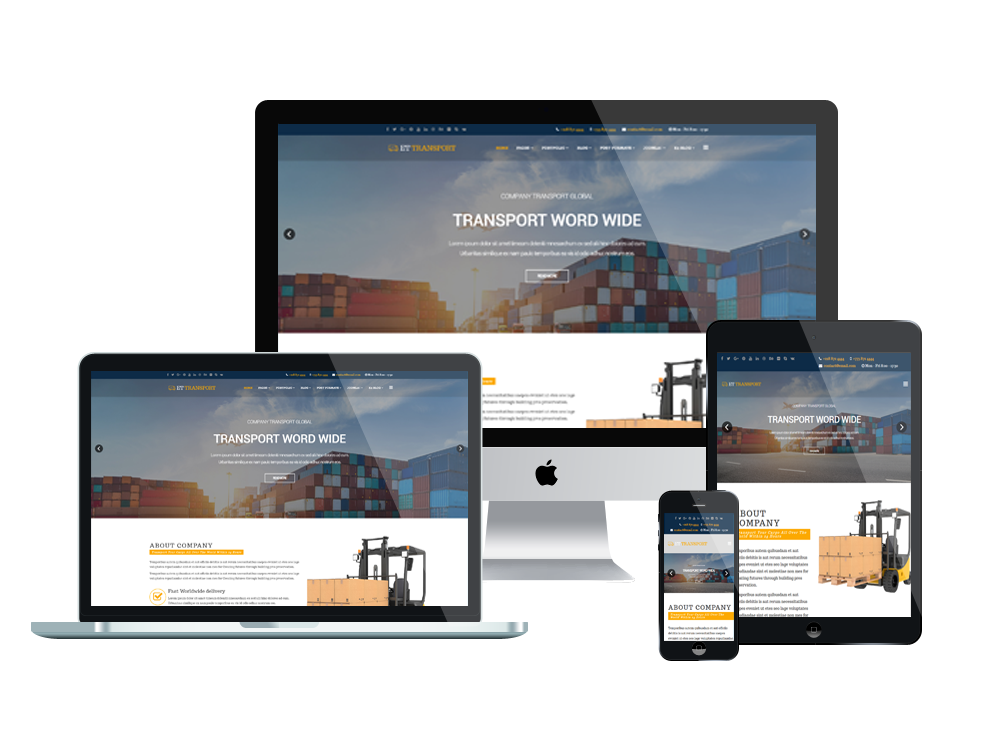 Et transport free responsive transport website template for Free responsive joomla templates