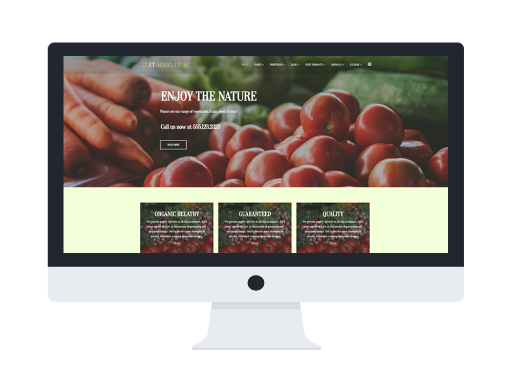 et agriculture free responsive joomla template desktop - Free Responsive Website Templates