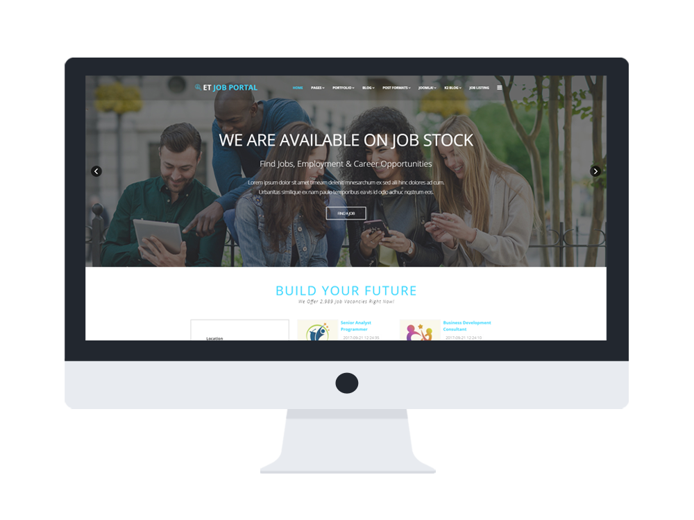 ET Job Portal Free Responsive Job Portal Website Templates - Membership website templates free