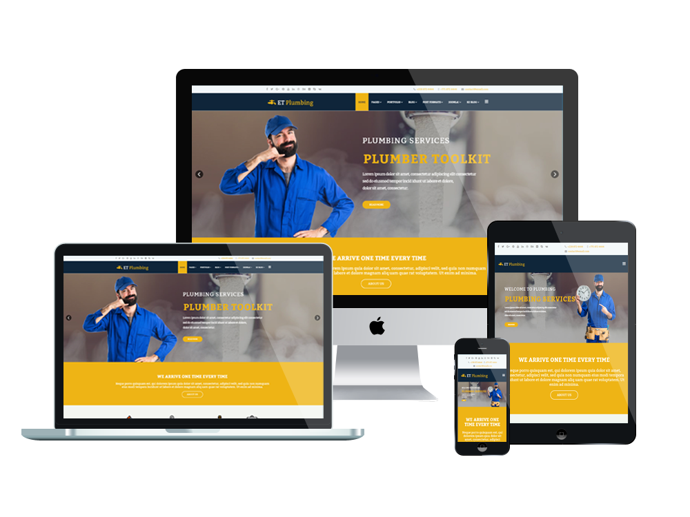 Et plumbing free responsive plumbing website template for What is a responsive template