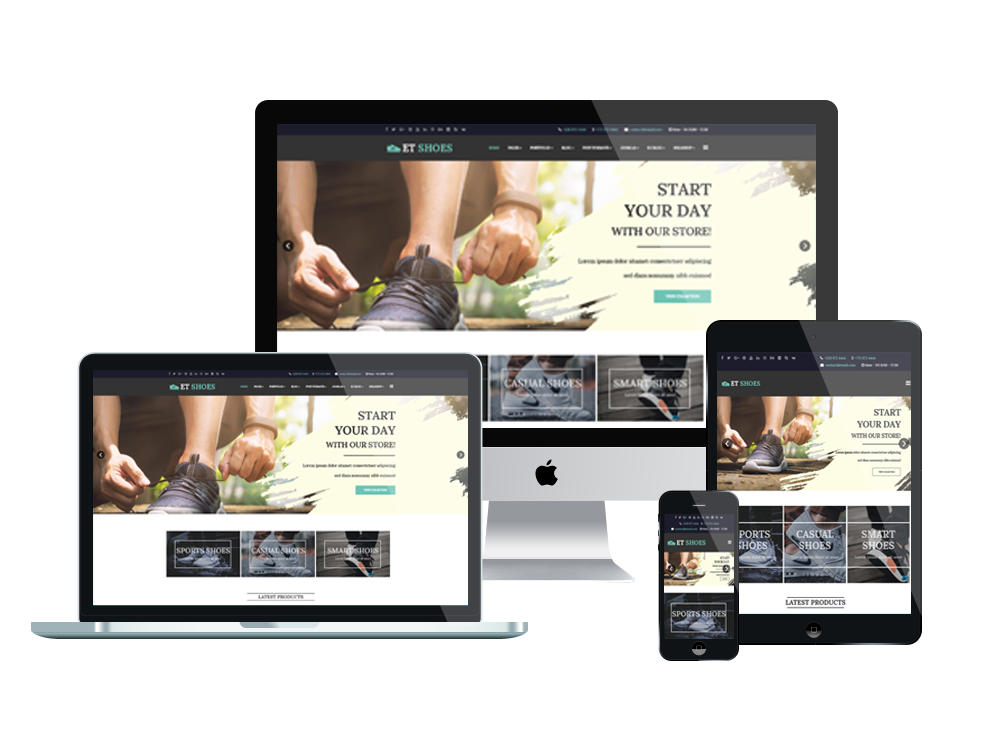 Et shoes free responsive shoes joomla template for What is a responsive template