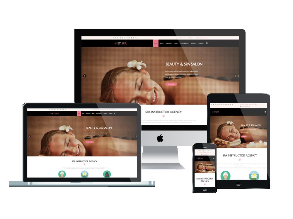 Et Spa Free Responsive Spa Website Templates