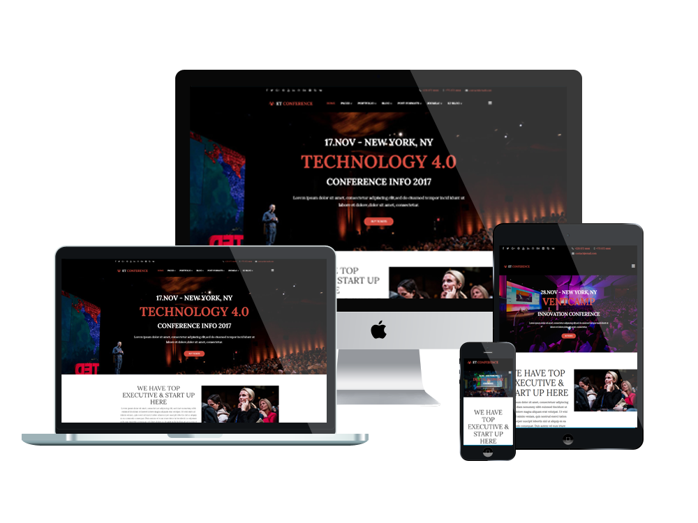 Et Conference Free Responsive Joomla Template