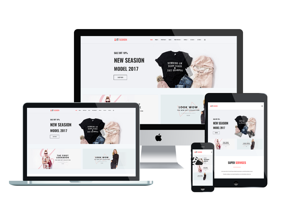 Et fashion free responsive fashion website template for Free responsive joomla templates