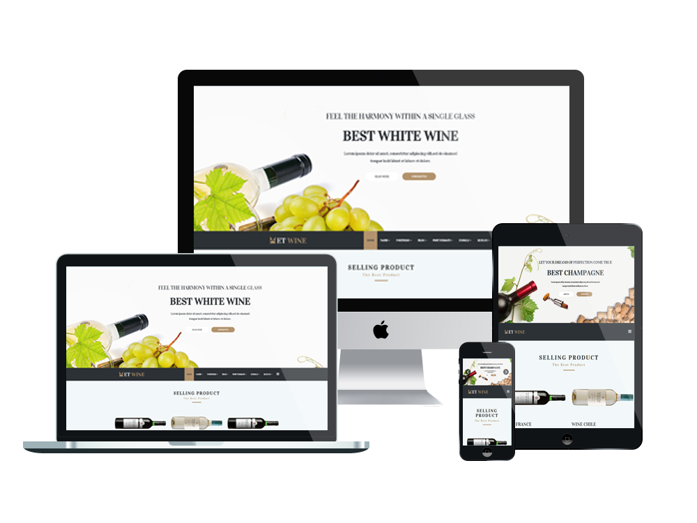 Et wine free responsive wine joomla template for What is a responsive template