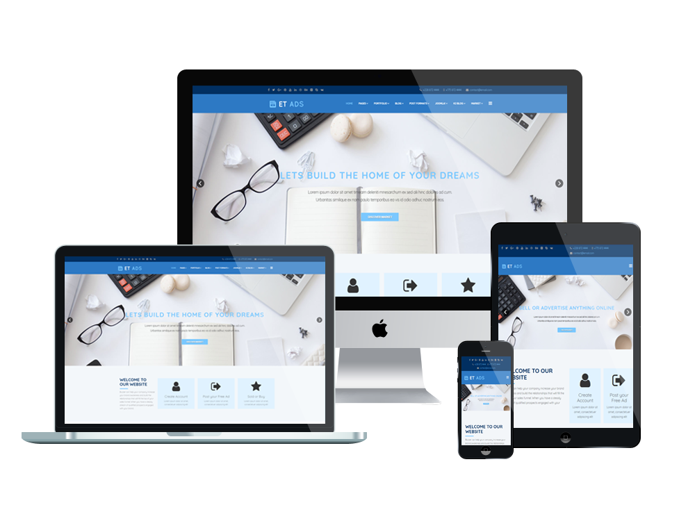 Et ads free responsive classified ads website template for Free responsive joomla templates