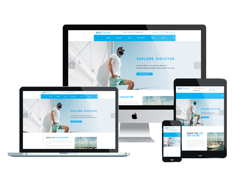 Et yacht free responsive yacht joomla template for What is a responsive template