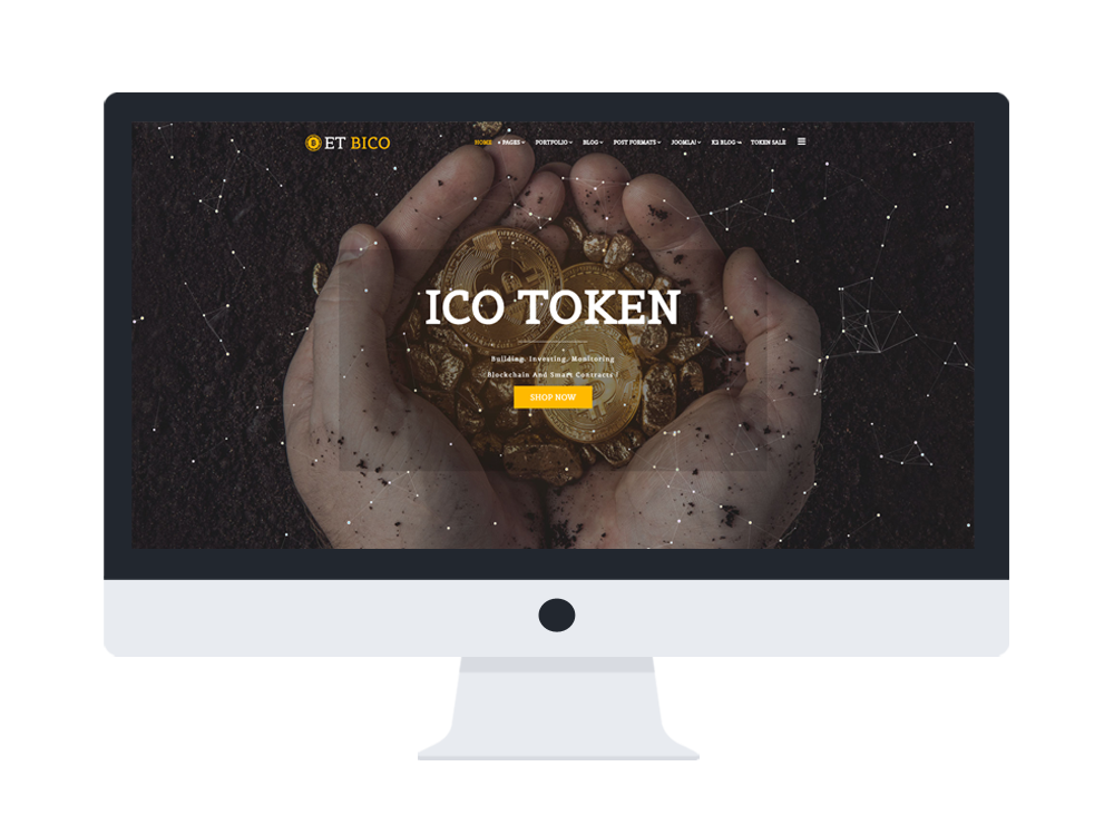 et bico free responsive cryptocurrency website template. Black Bedroom Furniture Sets. Home Design Ideas