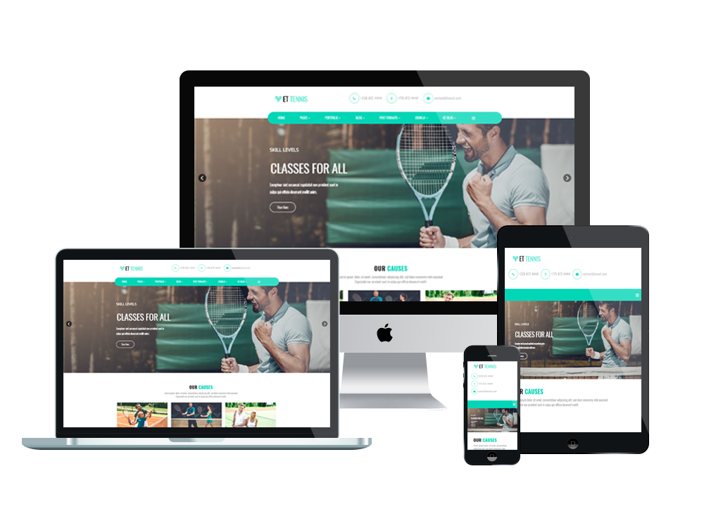 ET Tennis – Free Responsive Tennis Website Template