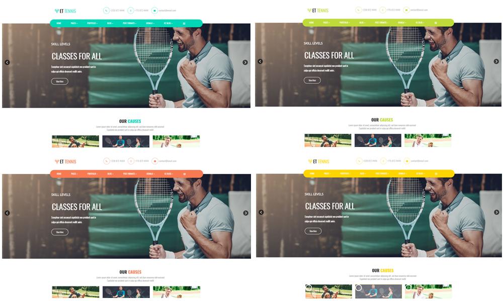 ET Tennis – Free Responsive Tennis Website Template