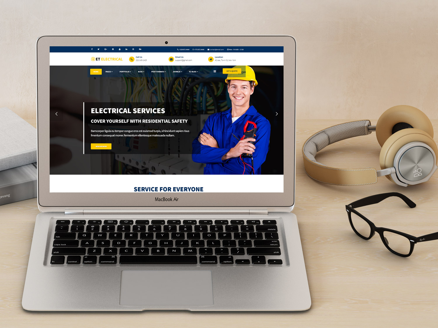 et-electrical-free-responsive-joomla-template-screenshot