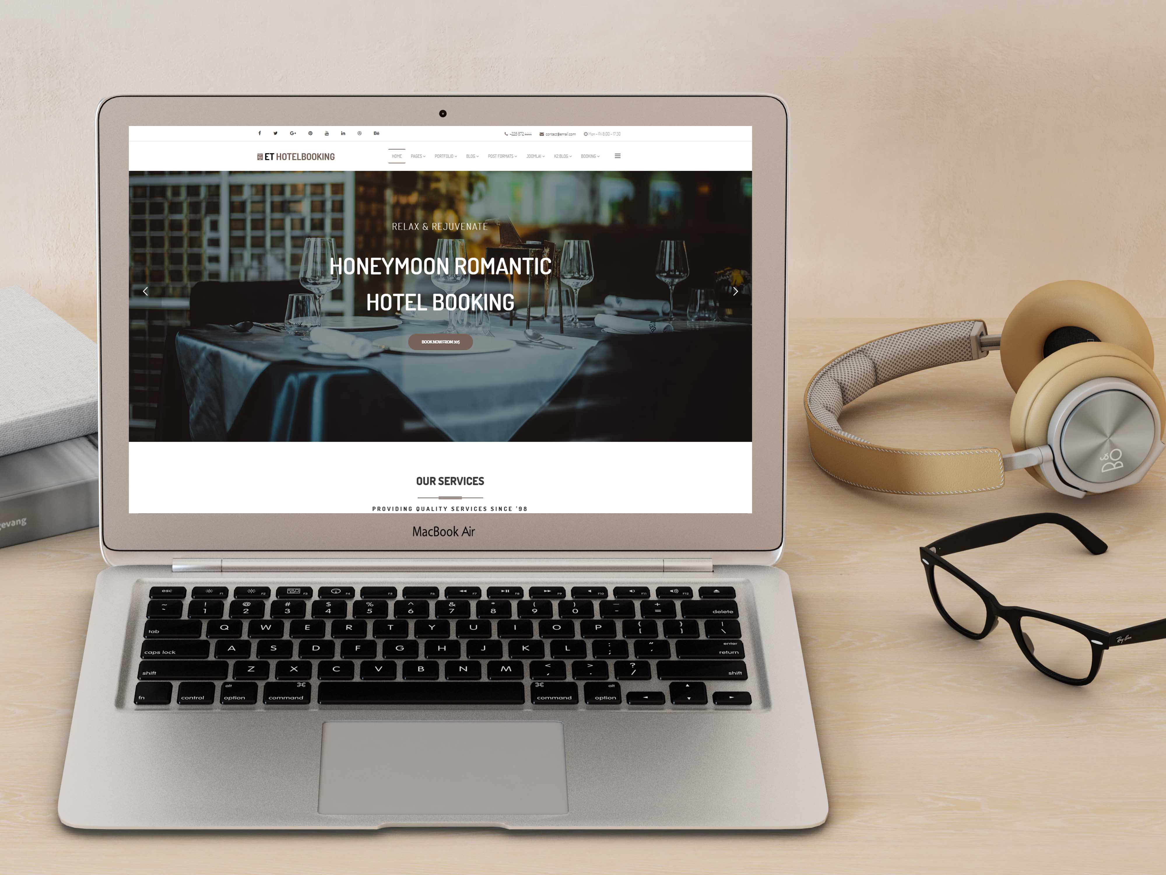 ET Hotel Booking – Free Responsive Joomla Hotel template - Engine ...