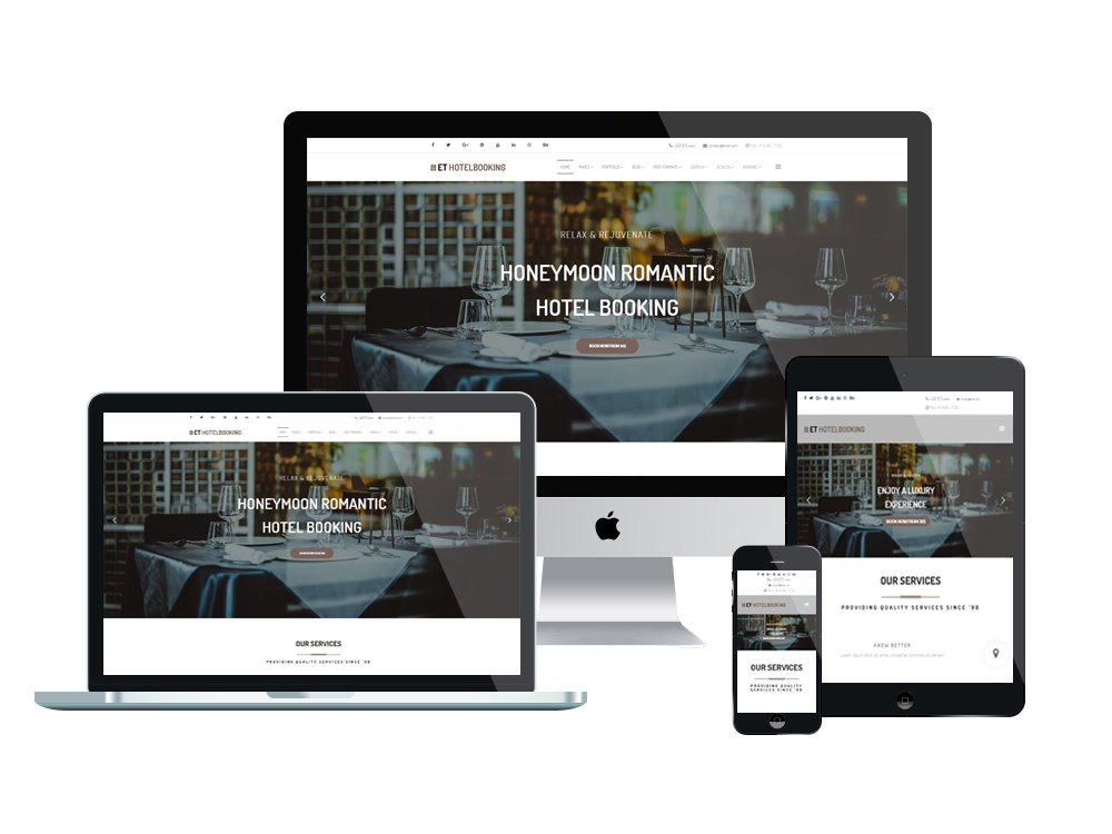 ET Hotel Booking Free Responsive Joomla Hotel template - Engine Templates