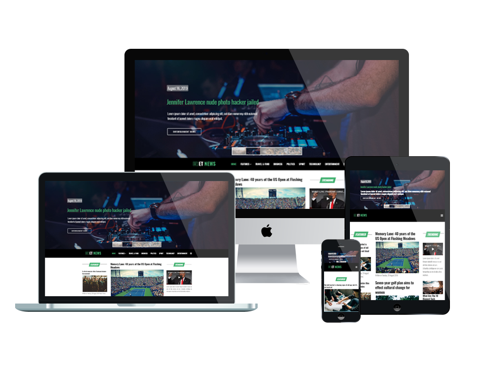 Et News Free Responsive Joomla Newspaper Theme Engine Templates
