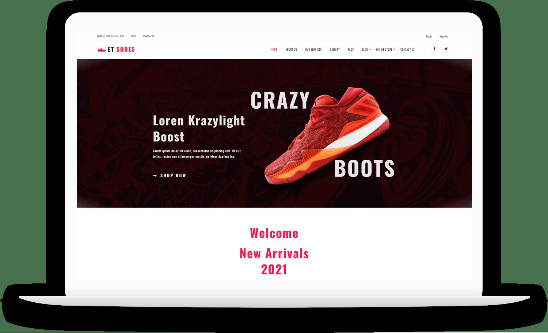 et-shoes-free-responsive-wordpress-theme-elementor
