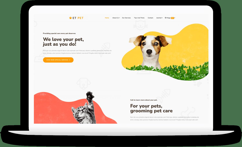 et-pet-responsive-joomla-template-free