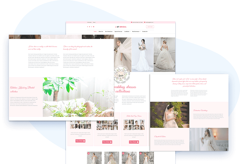 et-bridal-free-wordpress-theme-elementor