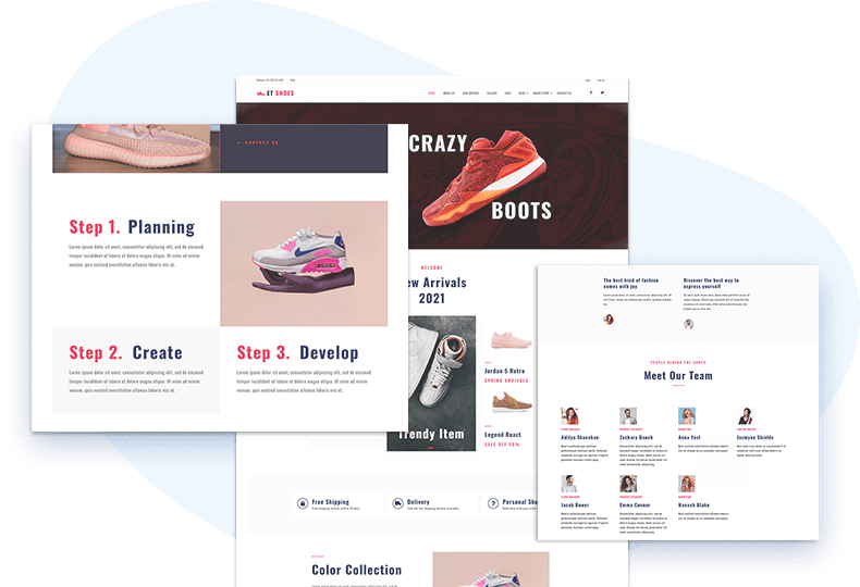 et-shoes-free-wordpress-theme-elementor