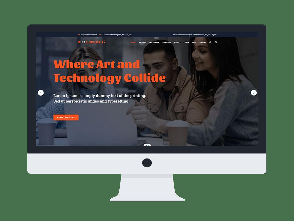 et-university-free-wordpress-theme-responsive
